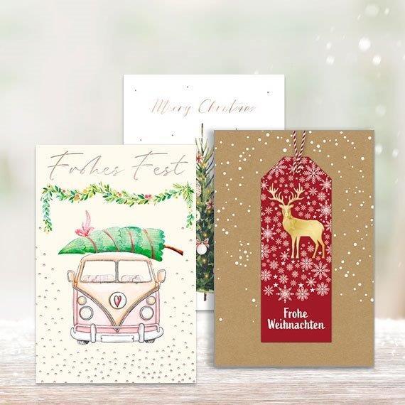 Weihnachtskarten Motive.Weihnachtskarten Sortiment 10 Motive Sortiert